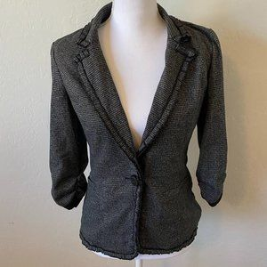 Maurices Hounds Tooth Blazer w/ Lace Trim Jacket